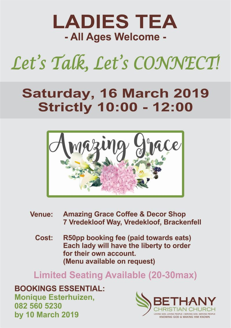 Bethany Ladies Tea - 16 March 2019