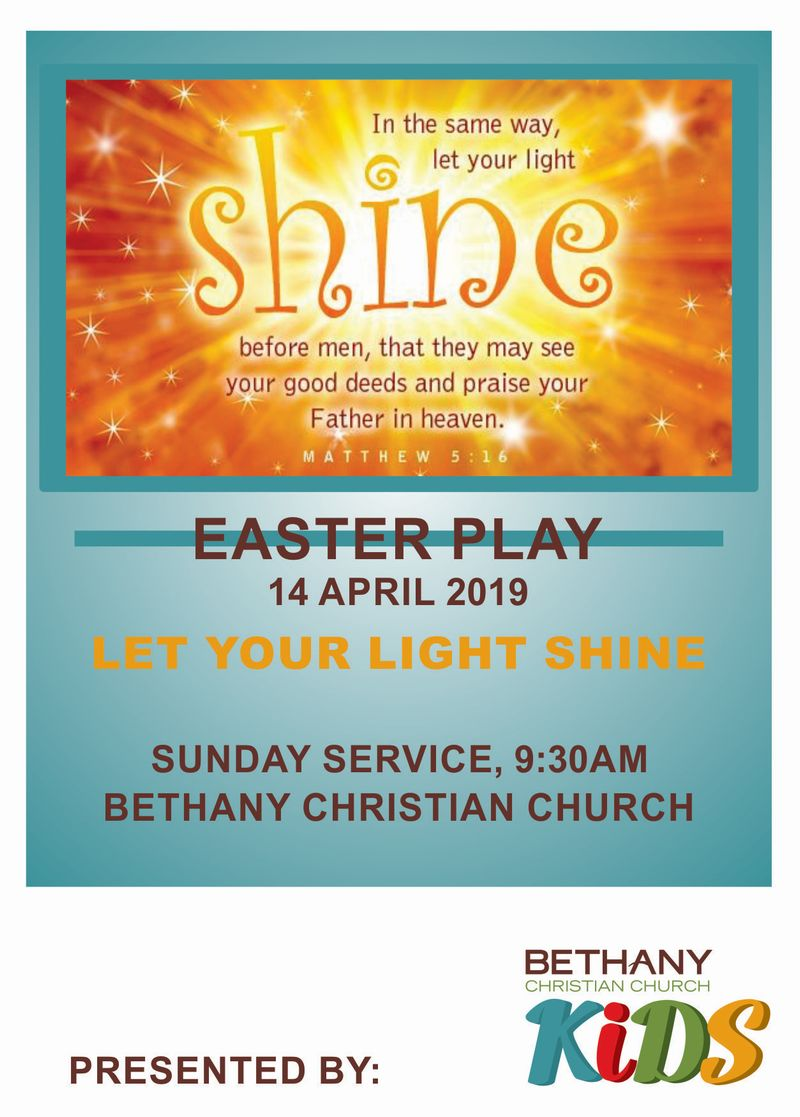 Easter Play 2019 Advert